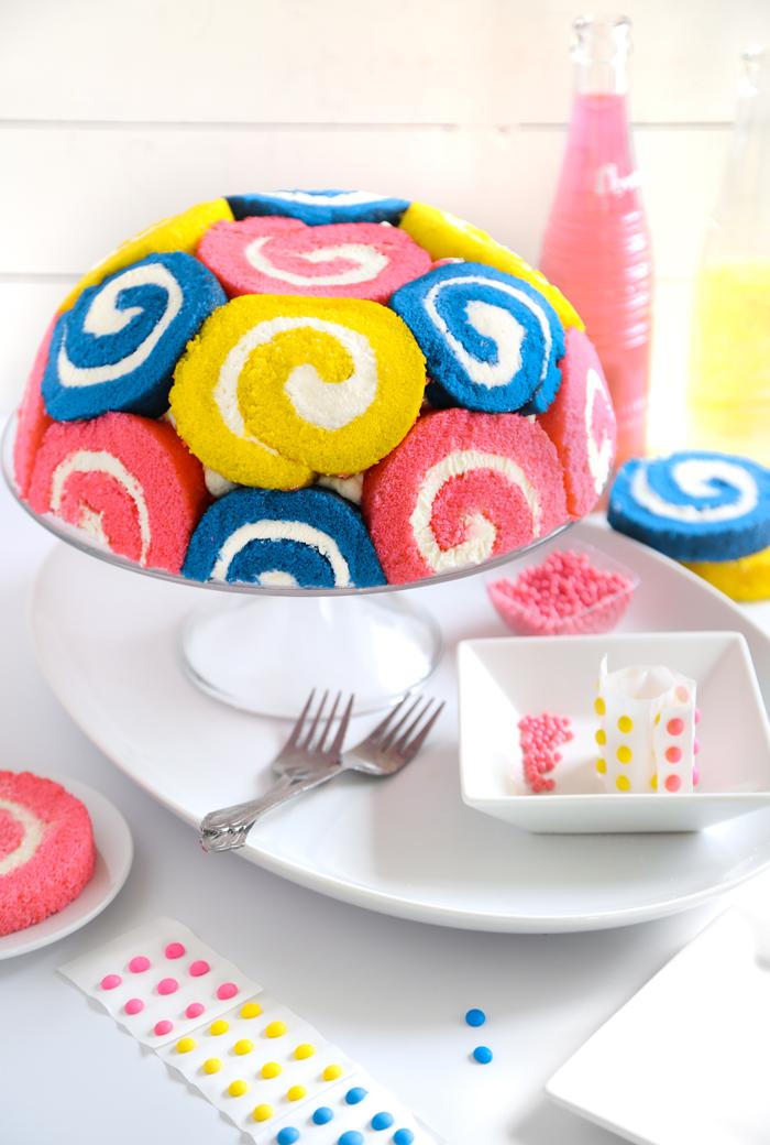 Spring Twirl Dome Cake