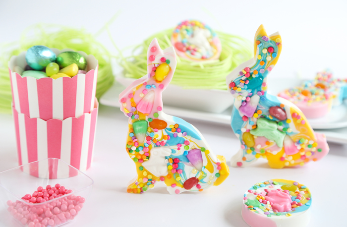 Candy Speckled Easter Bunny Bark