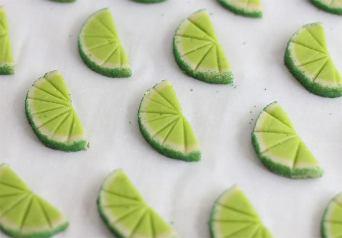 Zesty Lime Slice Cookies