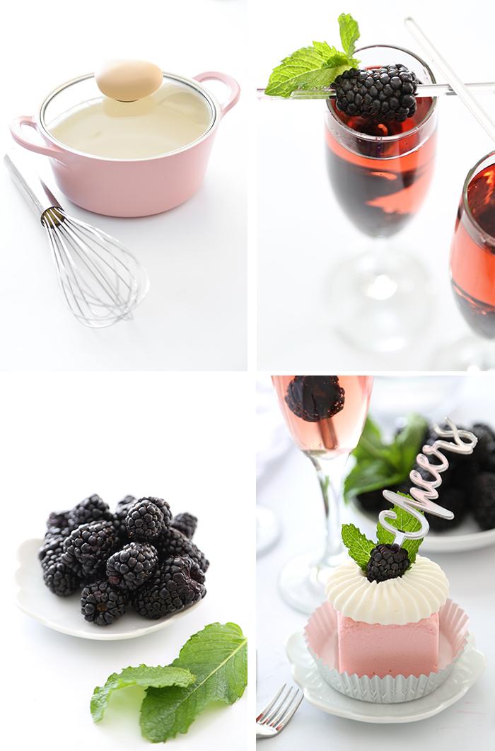Mini Rosé Wine Toasting Cakes