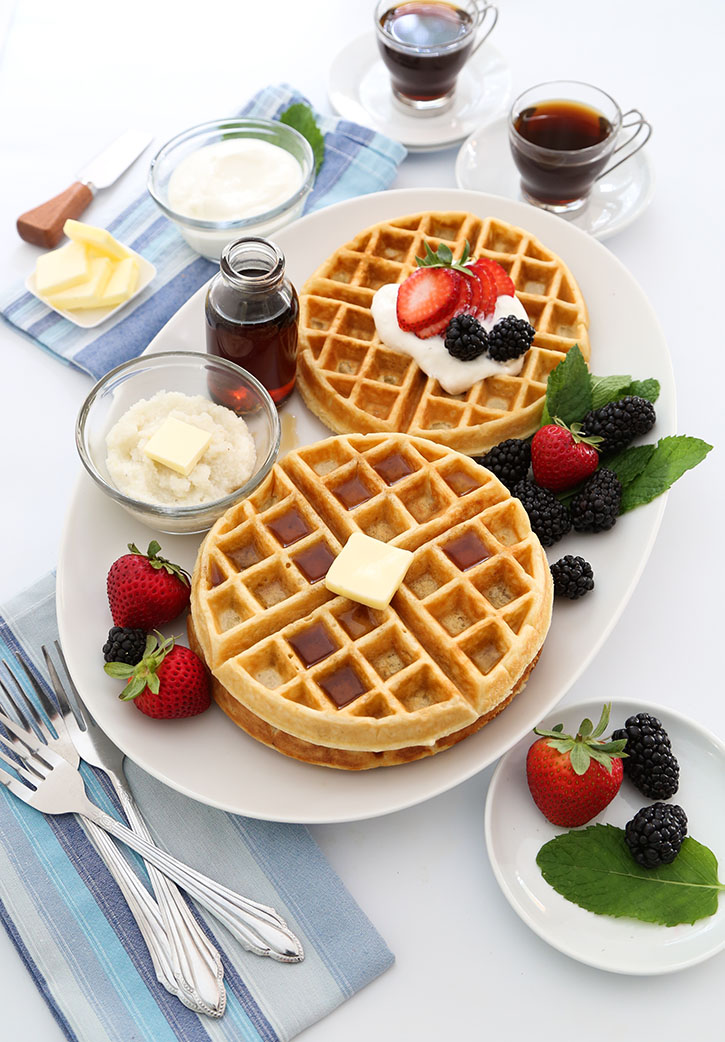 Buttermilk Grits Waffles on Go Bold With Butter!