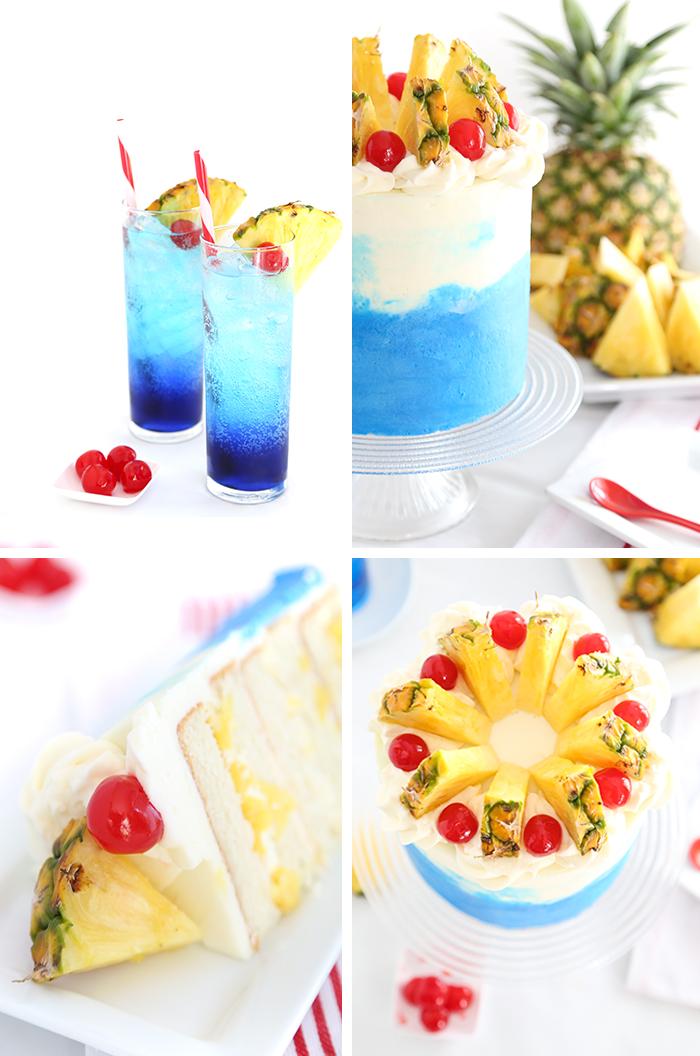 Blue Hawaiian Layer Cake