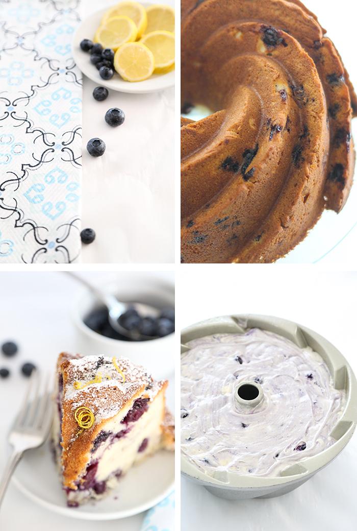 Simple Blueberry Pound Cake