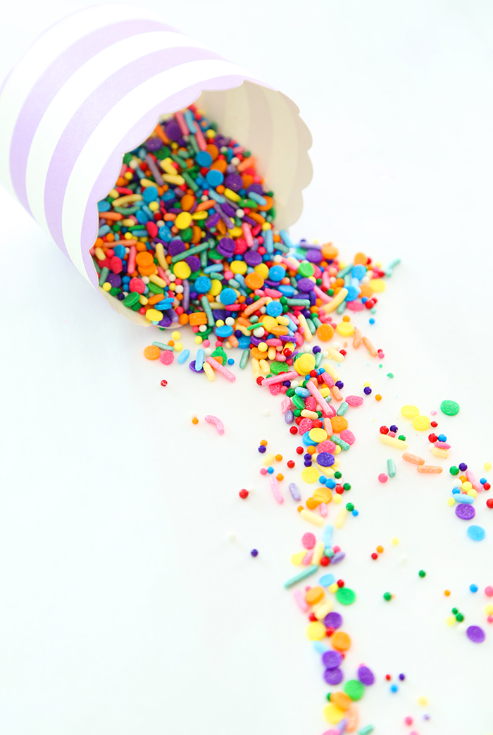 Giant Confetti Cookie Cup