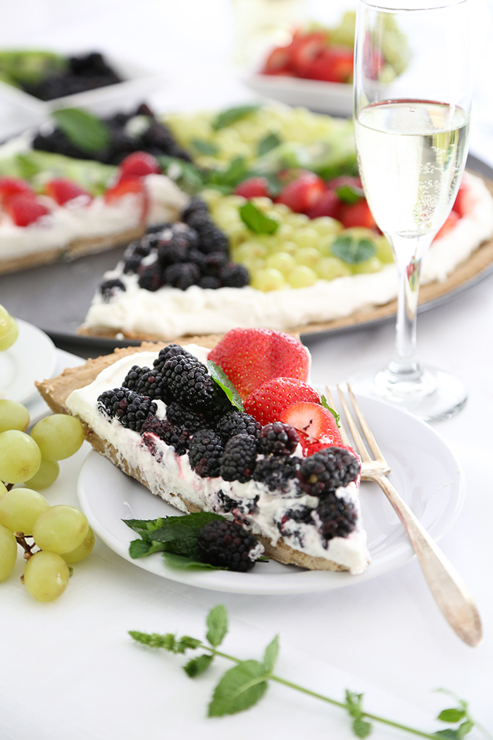 Fruit Pizza with Brown Sugar Cookie Crust