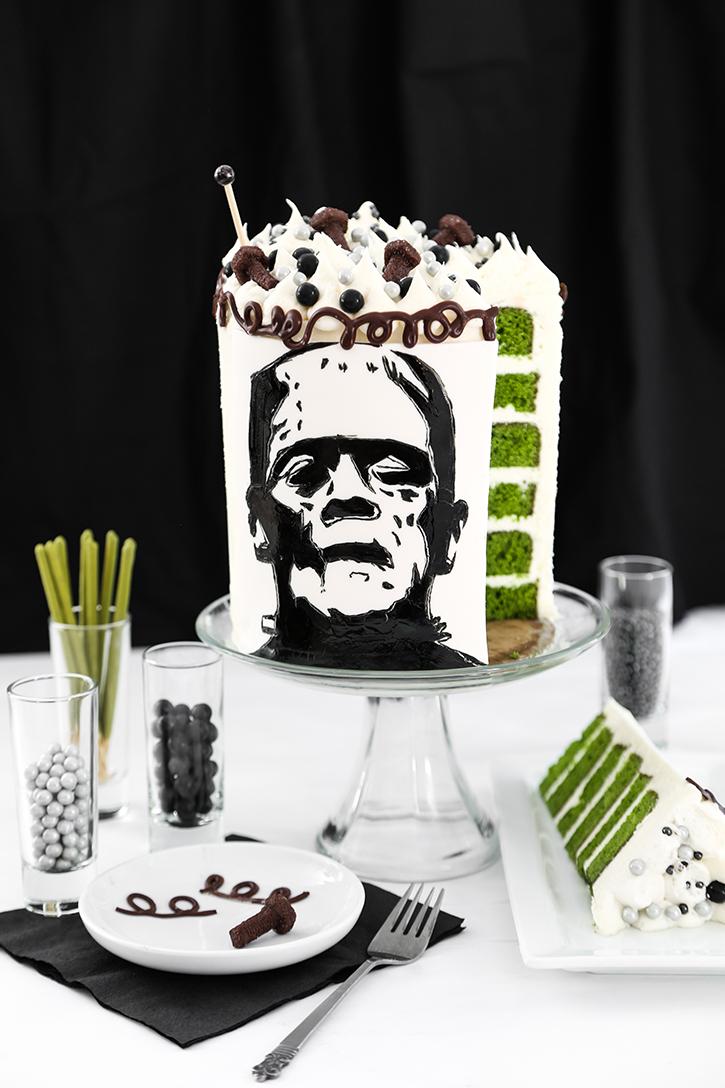 Frankenstein Silhouette Cake