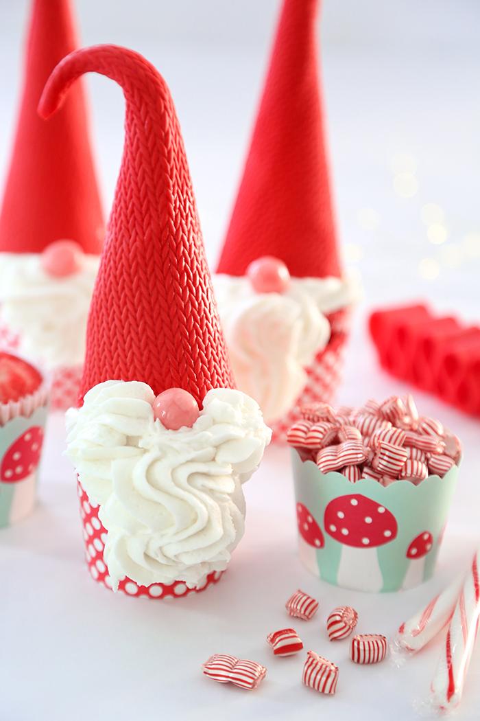 Christmas Gnome Cupcakes