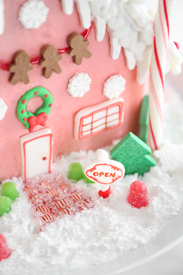 Pretty Pink Gingerbread Shop with Wilton's Gingerbread House Kits
