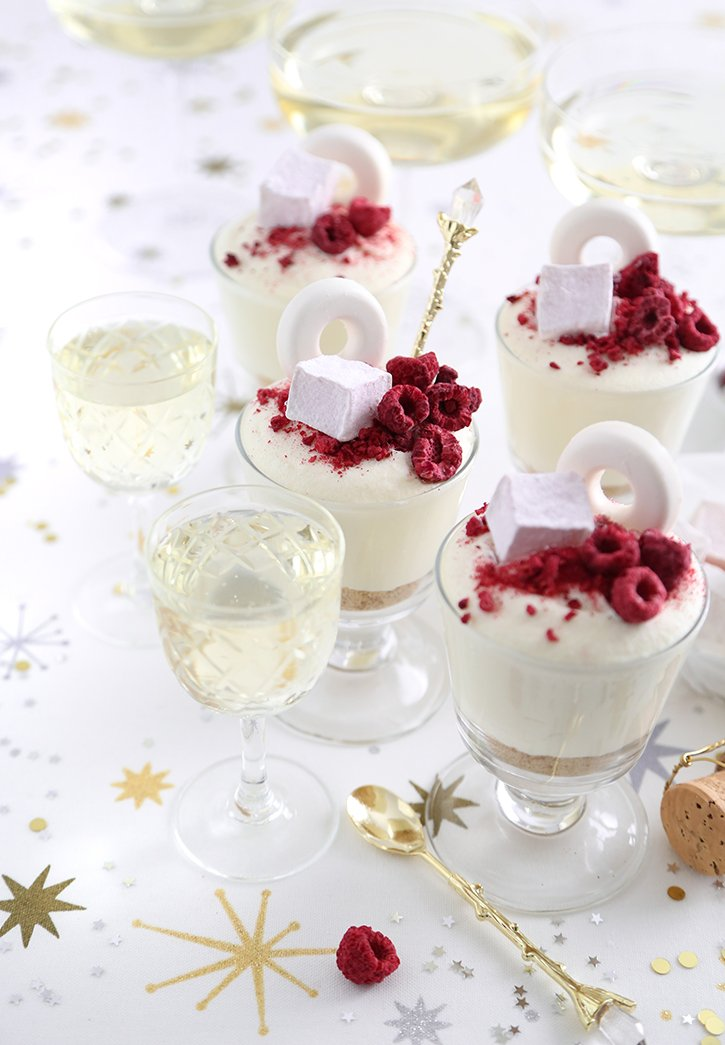 Champagne Cheesecake Cups