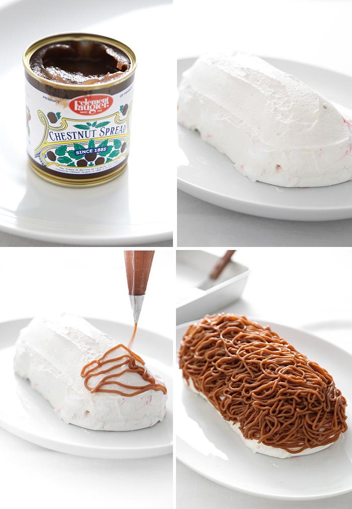 Classic French Mont Blanc Dessert