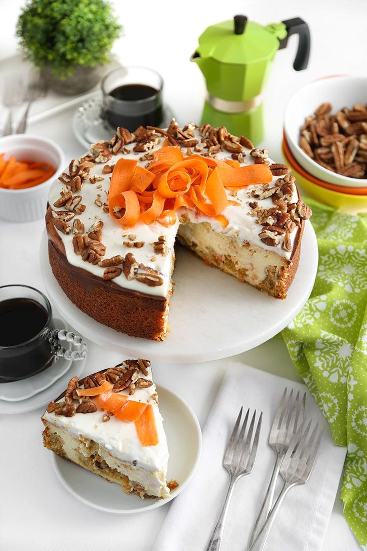 Carrot Cake Swirl Cheesecake