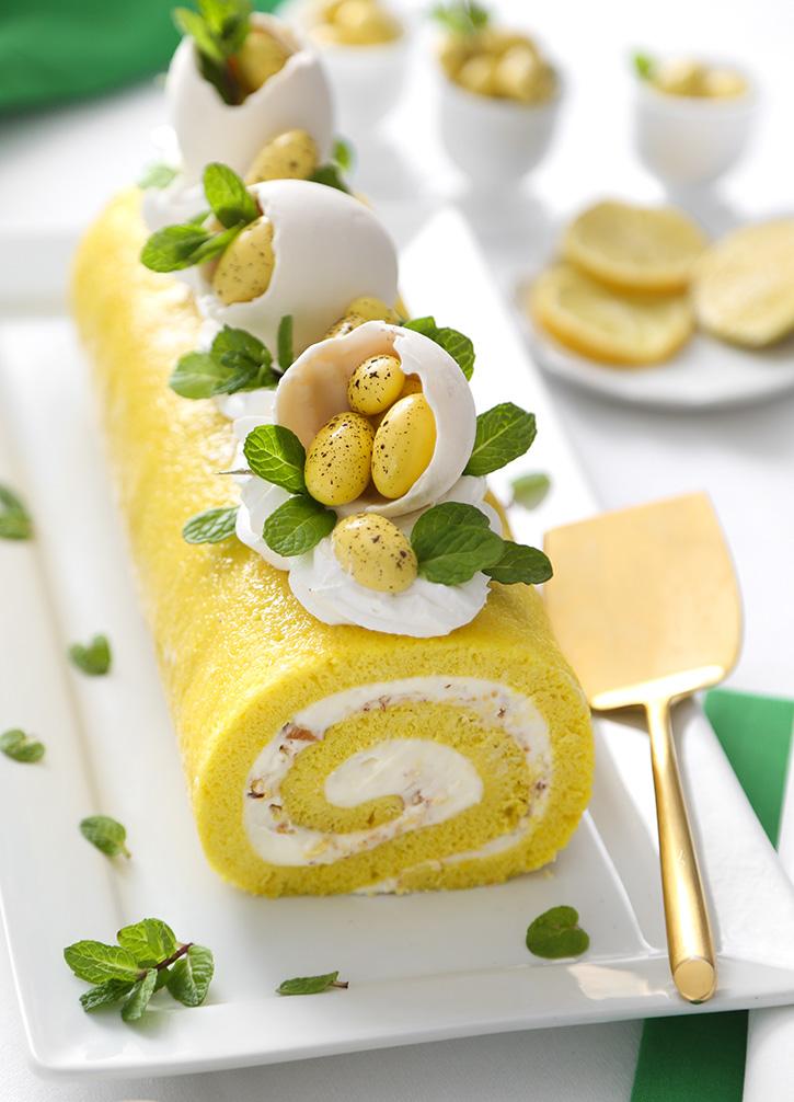 Limoncello Almond Cake Roll