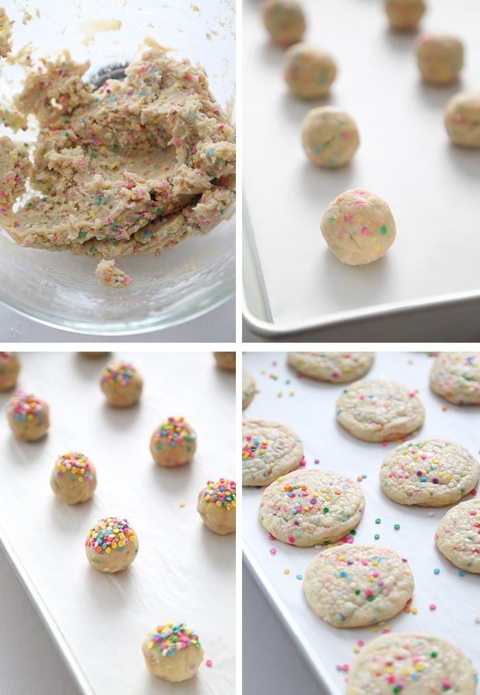 Birthday Cake Sugar Cookies with Sprinkles