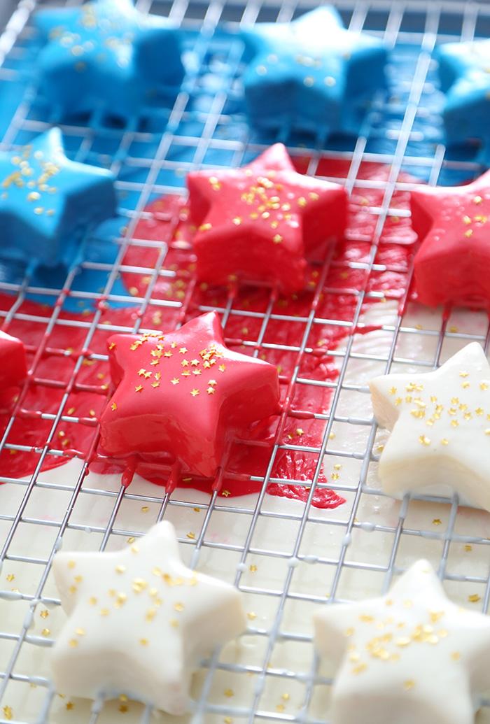 Easy Patriotic Petit Fours