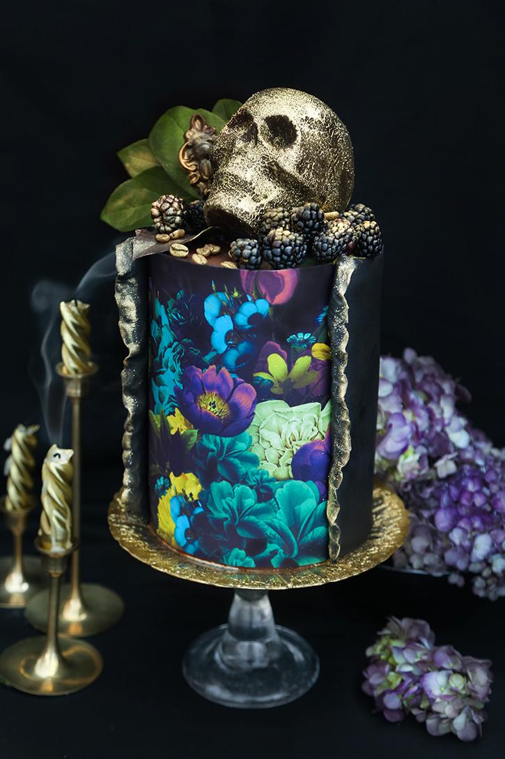 Vanitas Chocolate Cake with Death Wish Coffee Ganache