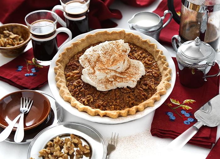 Maple Caramel Walnut Pie