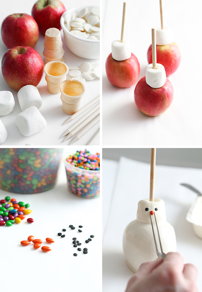 Candy Apple Snowmen