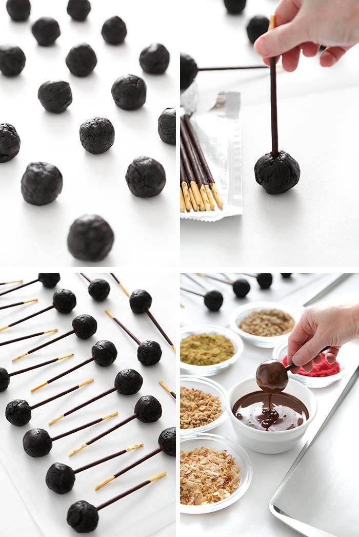 Chocolate Pocky Pops