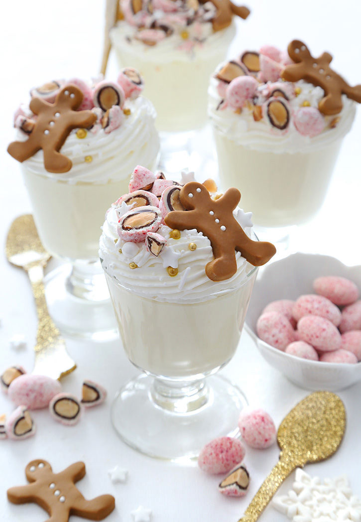 Marzipan Mousse with Sconza Candy Cane Almonds