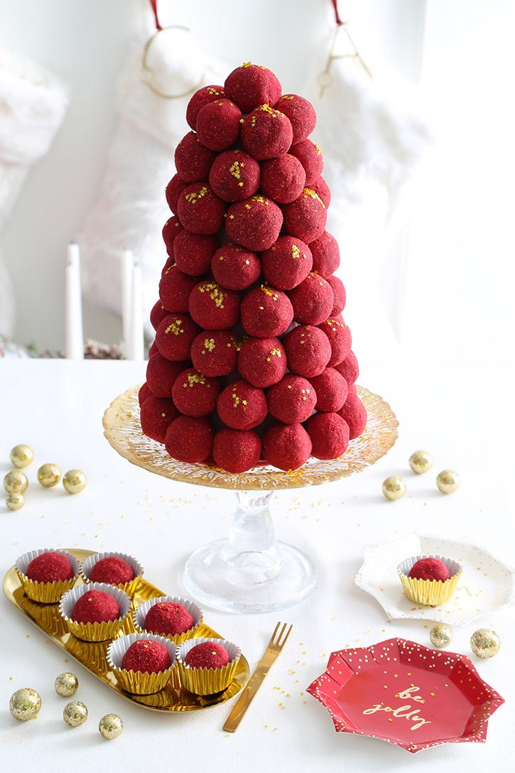Ruby Chocolate Truffle Tower