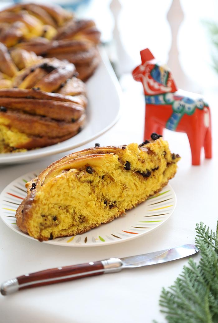 Swirled Swedish Saffron Bread for St. Lucia Day