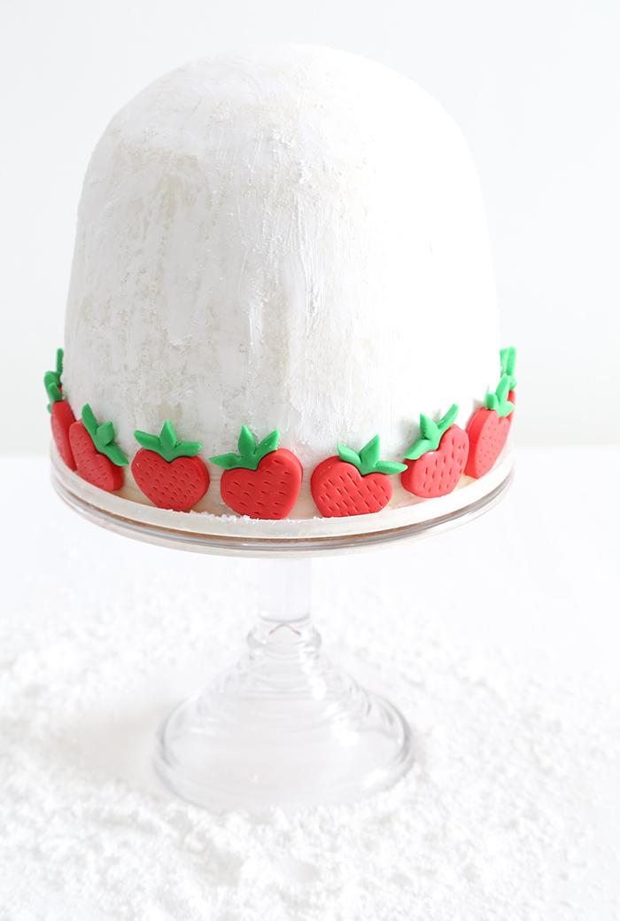 Strawberry Chocolate Chip Love Spell Cake