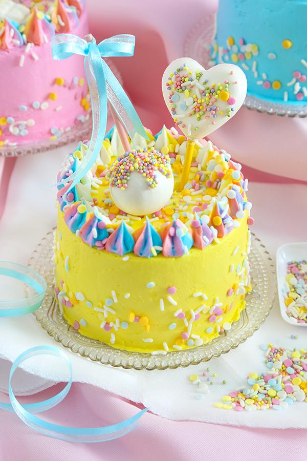 Mini Pastel Party Cakes