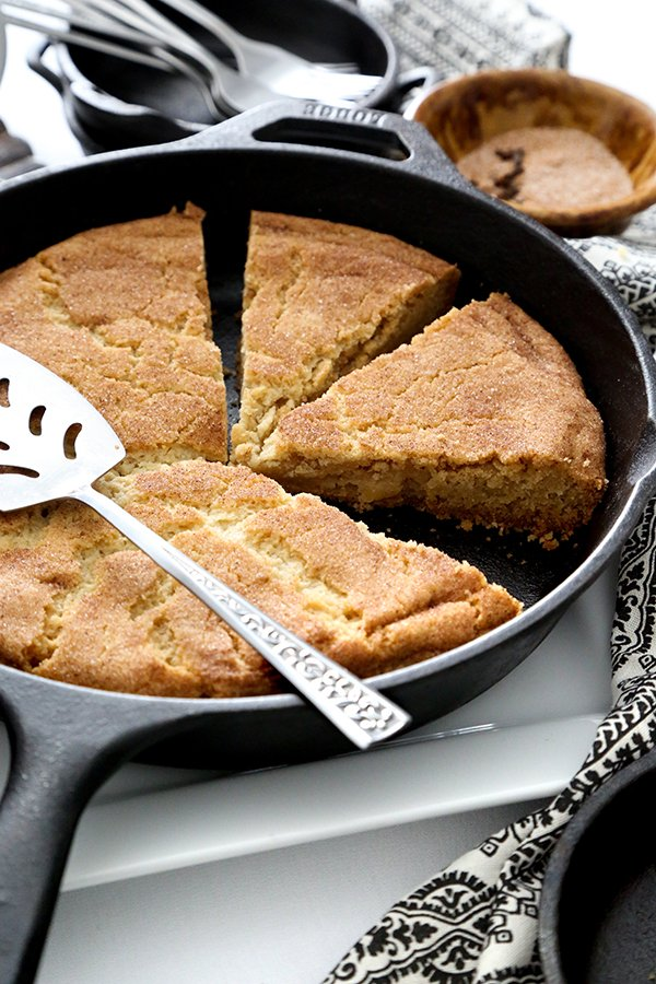 Chai Spiced Snickerdoodle Skillet Cookie