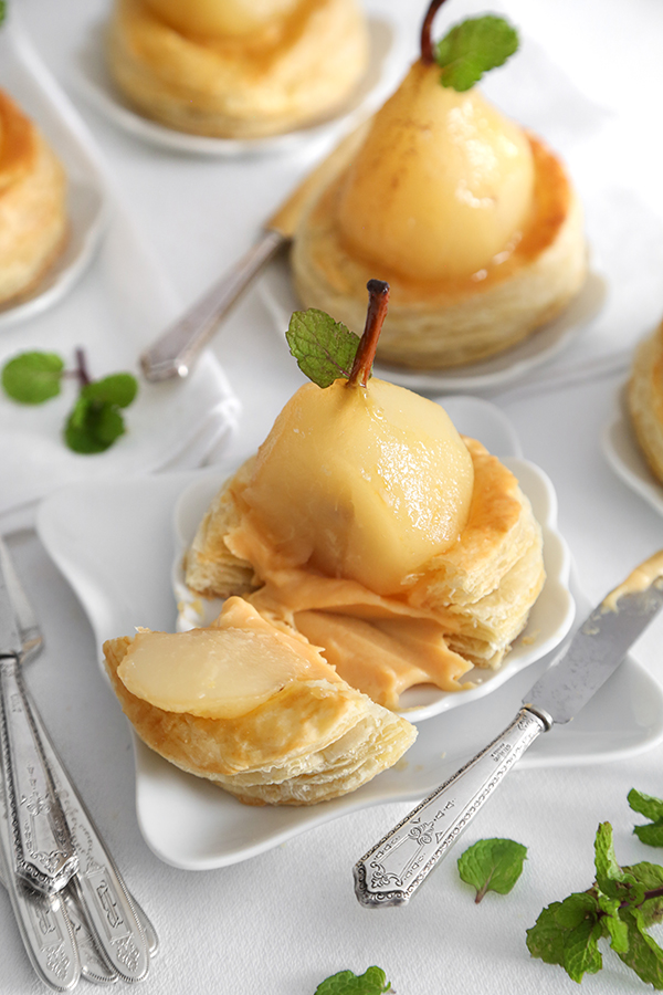 Poached Pear Vol au Vents