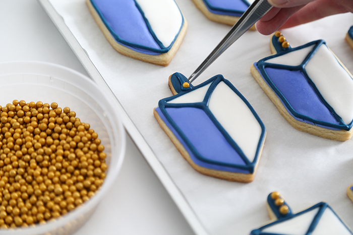 Dreidel Cookies for Hanukkah