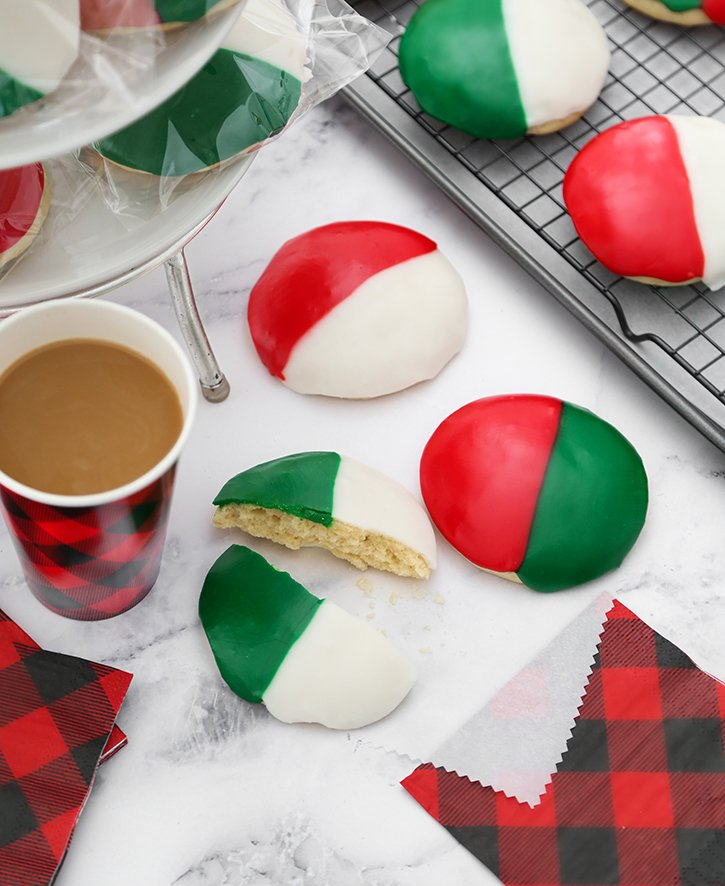 Festive Black and White Cookies