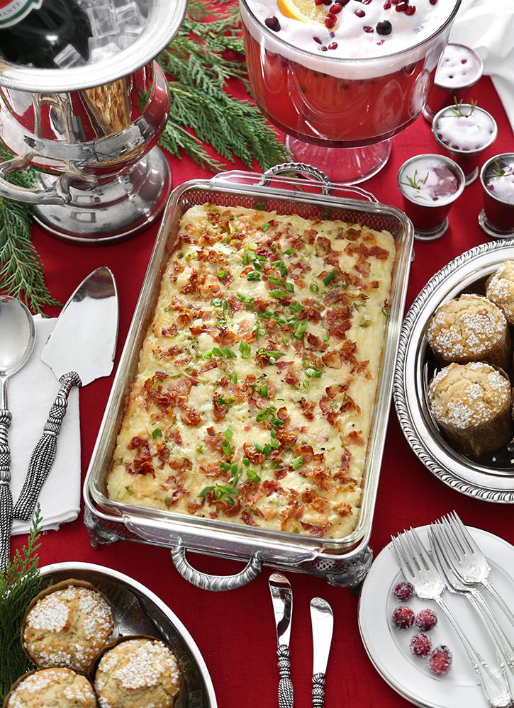 Triple Cheese Omelet Bake for Christmas Breakfast