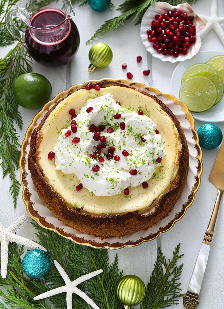 Winter Key Lime Cheesecake