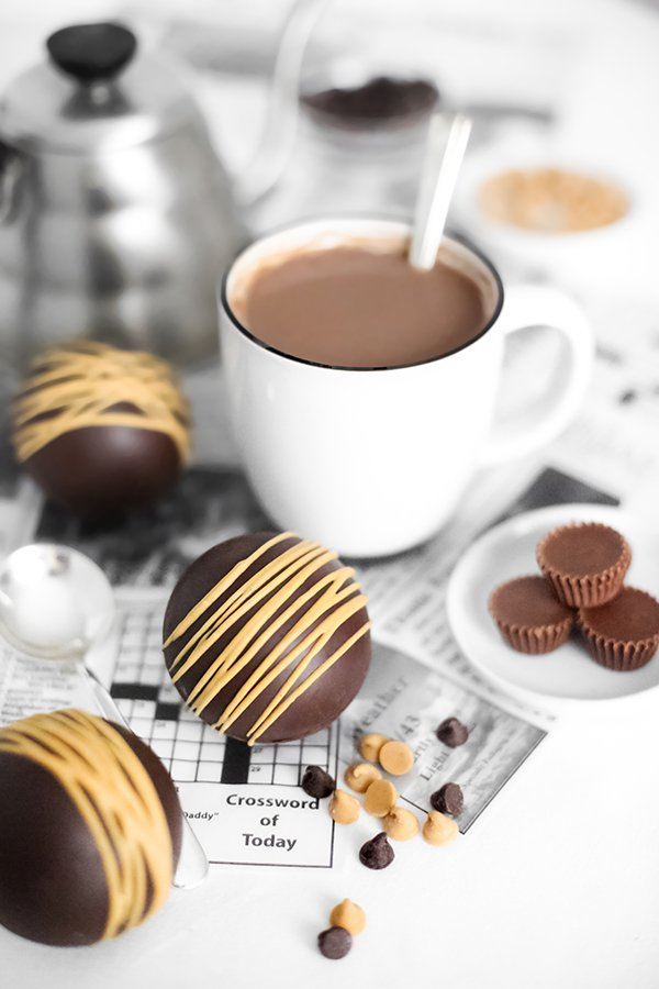 Peanut Butter Cup Hot Cocoa Bombs