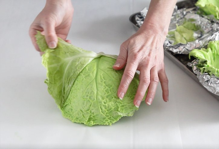 Revealing the chocolate cabbage leaves