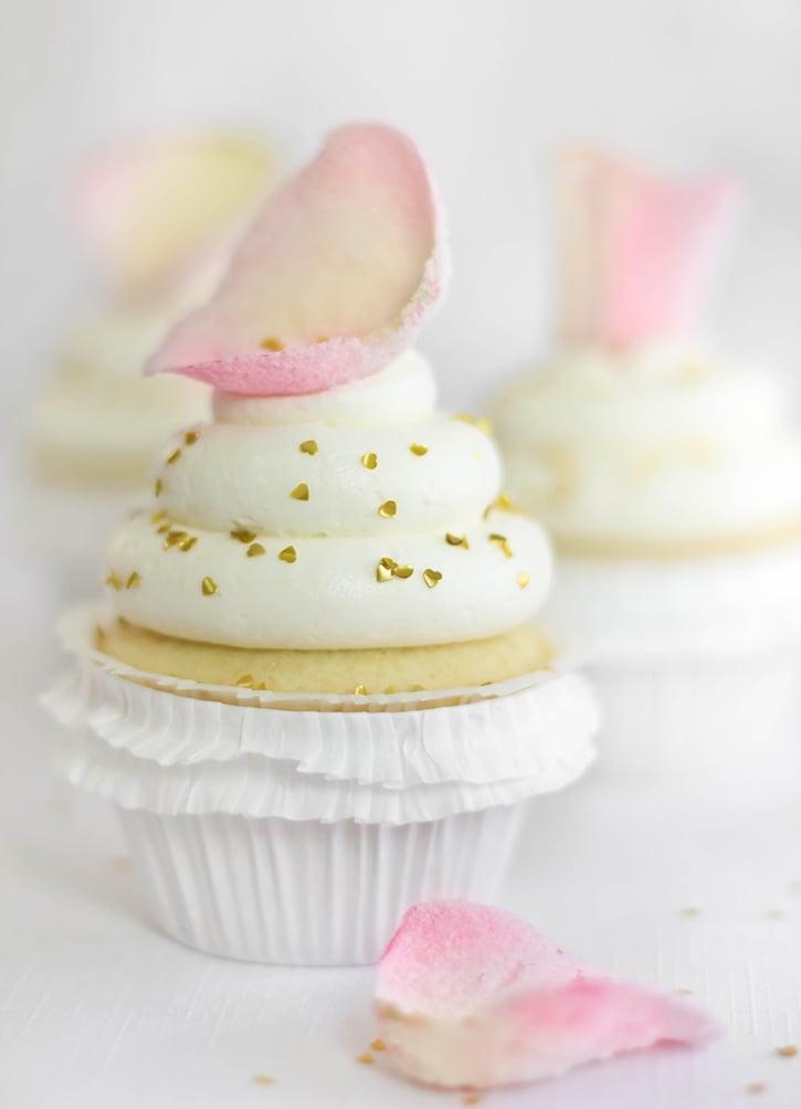 Vanilla-Rosewater Cupcakes