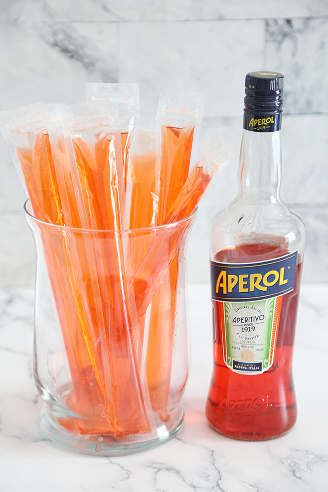 Aperol Creamsicle Ice Pops