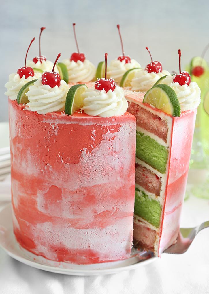 Cherry Limeade Layer Cake