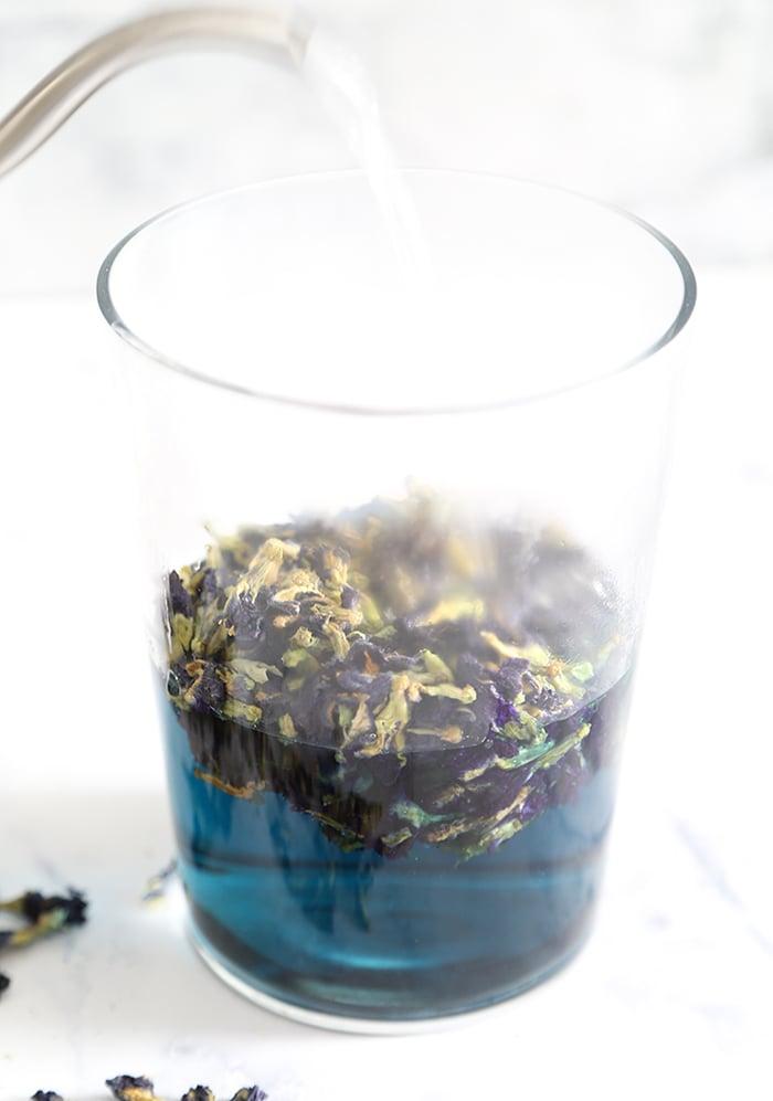 Coconut Butterfly Pea Flower Boba (Bubble) Tea