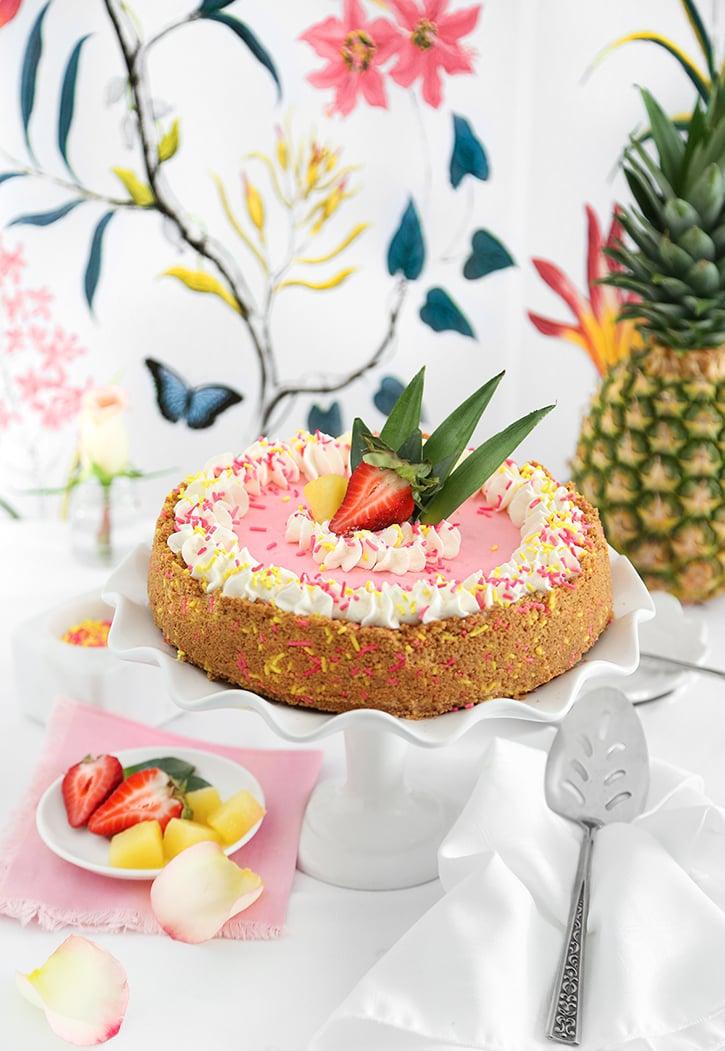 Pink Pineapple Pie