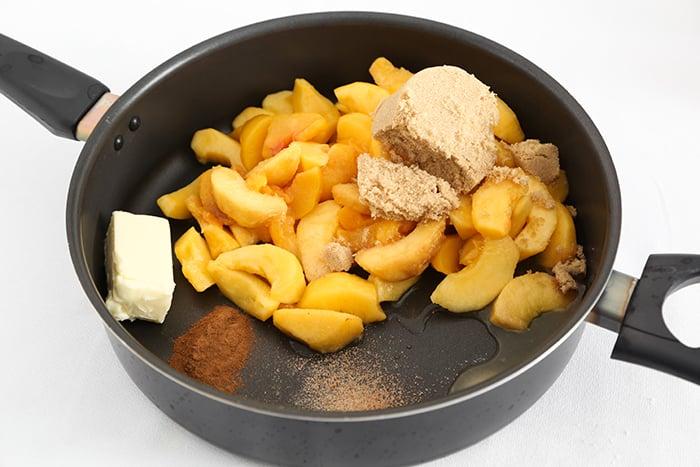 Fried Peach Shortcake