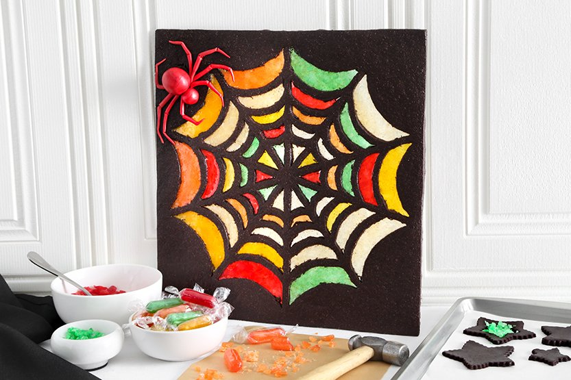 Stained Glass Spider Web Cookie