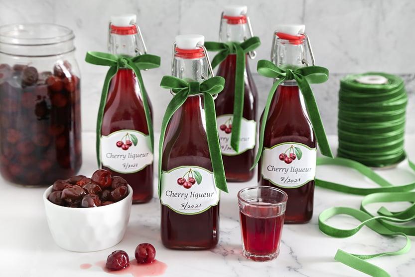 Homemade Cherry Liqueur