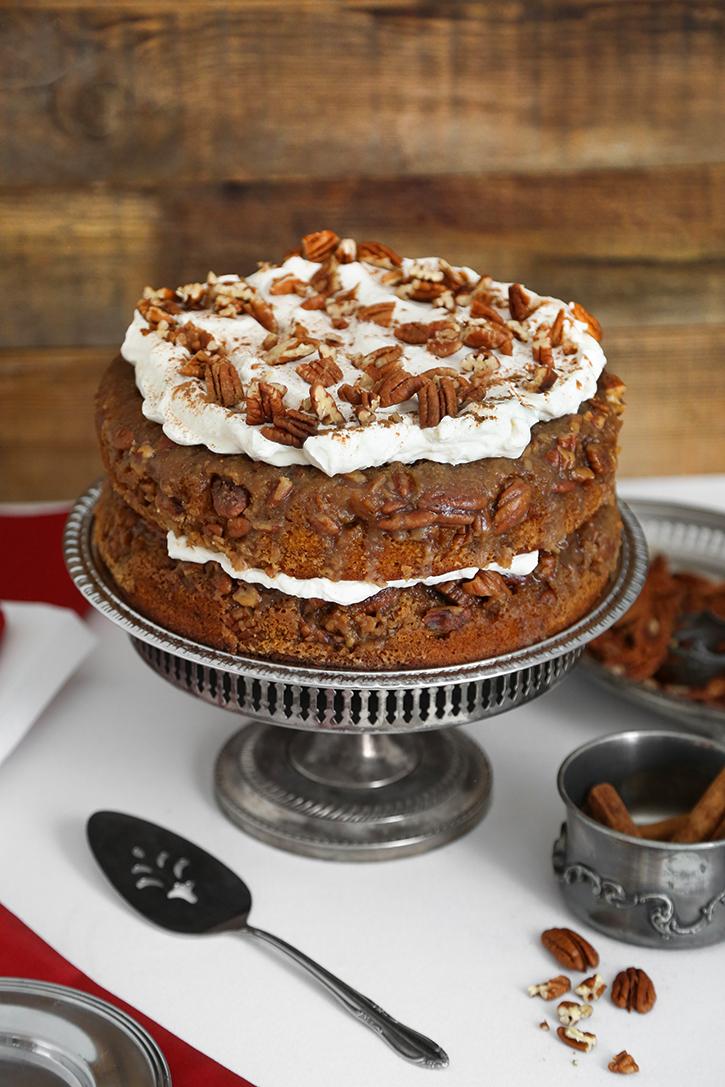 Pecan Praline Pumpkin Torte